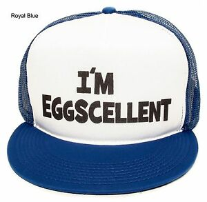 New-The-Regular-Show-Im-Eggscellent-Hat-Cap-Eggcelent-Excellent-Snapback