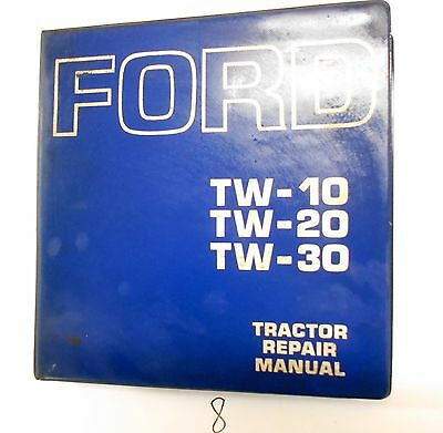 Ford Tw10 Tw20 Tw30 Tw 10 20 30 Tractor Service Shop Repair Manual  Se 3734