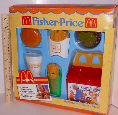 NEW ~ RARE Vintage Fisher Price McDonalds Fun With Food Happy Meal Lunch Box