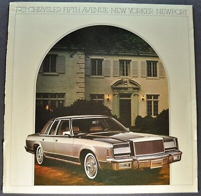 - 1981 Chrysler 5th Fifth Avenue New Yorker Newport Brochure Nice Original 81