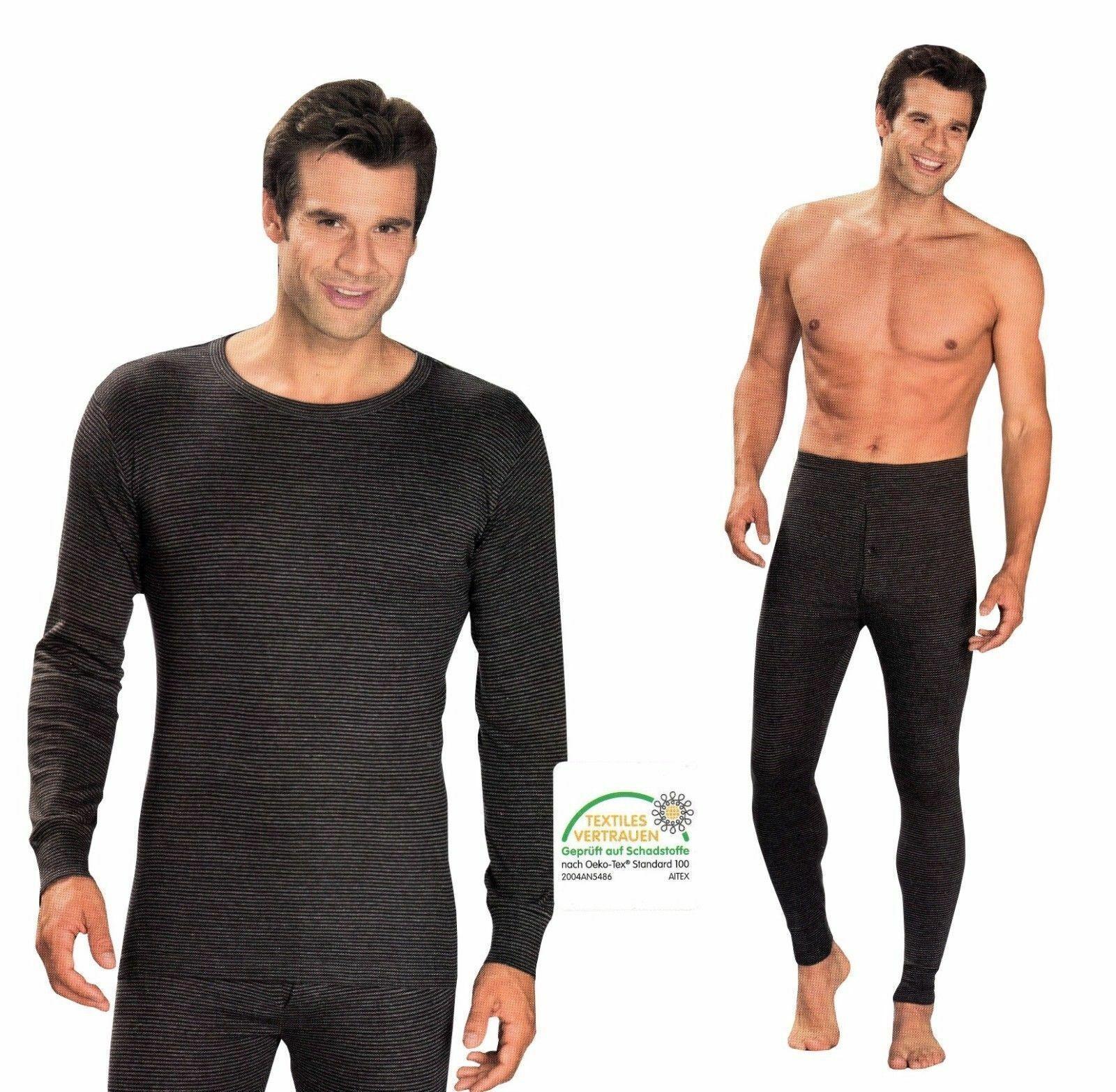 Herren Thermo Unterwäsche lange Unterhose Thermo Shirt Ski Winter Unterhemd warm