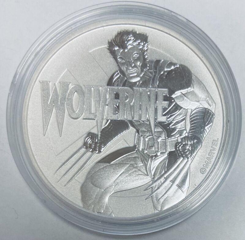 2021 $1 Tuvalu Wolverine One Dollar Marvel Series 1 oz Silver BU