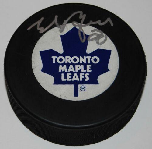 ED BELFOUR signed (TORONTO MAPLE LEAFS) souvenir logo hockey puck W/COA