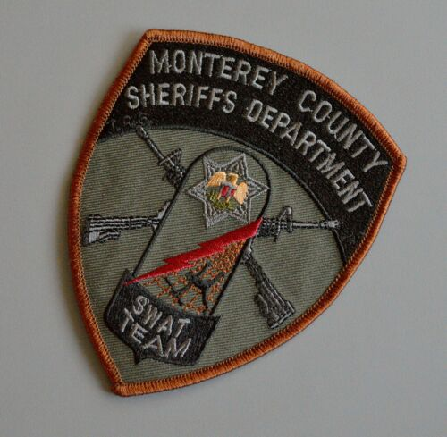 Monterey County Sheriff SWAT Subdued OD Green Patch ++ Mint CA