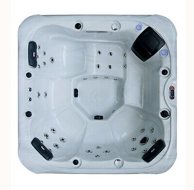 CAMBRIDGE 5-Person Hot Tub Spa 34 Jet 5HP Aromatherapy LEDs Bluetooth Waterfall