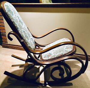 "Antique, ""Rare"" 35 yr. old ""SOLID"" BENTWOOD Rocking chair"