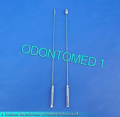 2 Pcs Bakes Rosebud Urethral Sounds 5mm12mm