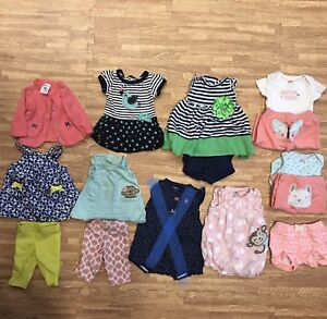 Newborn Baby Girl Summer Clothes EUC