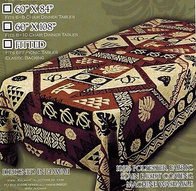 Tablecloth Tapa Hawaiian Tahitian Fijian Polynesian Pacific island Tiki Party