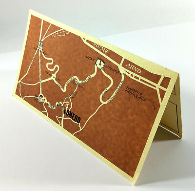 Vintage Table Card Map Advertisement TRATTORIA OMERO Firenze Florence Italy