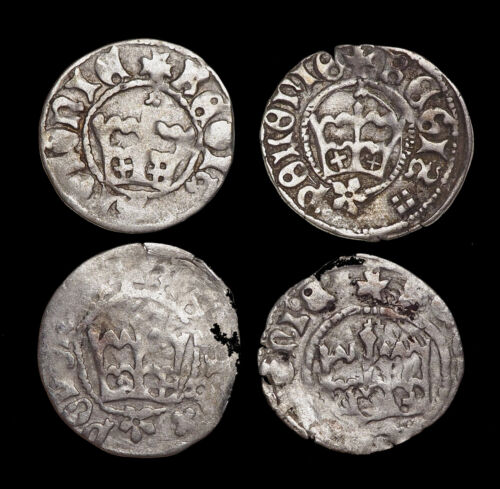 Mixed Lot Of 4 Silver Medieval Coins From Poland - $31.00