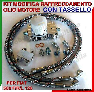 MODIFICA RAFFREDDAMENTO OLIO MOTORE MINI RADIATORE + TASSELLO FIAT 500 F/L/R 126
