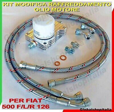 KIT MODIFICA RAFFREDDAMENTO OLIO MOTORE MINI RADIATORE AUTO FIAT 500 F/L/R 126
