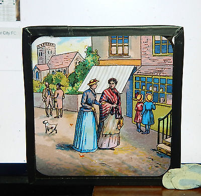 Victorian Glass Magic Lantern slide The calculating cobbler l2  bx1 .