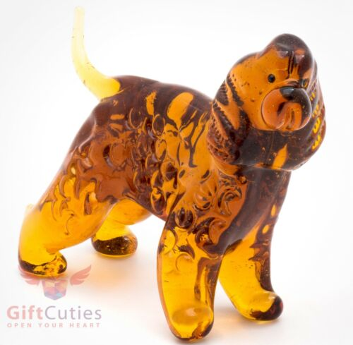 Art Blown Glass Figurine of the American Water Spaniel Dog
