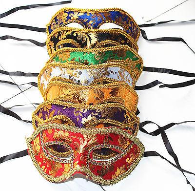 Masquerade Dancing Party 12pcs Unisex Pack of Mardi Fantasy Masks - Fantasy Masks