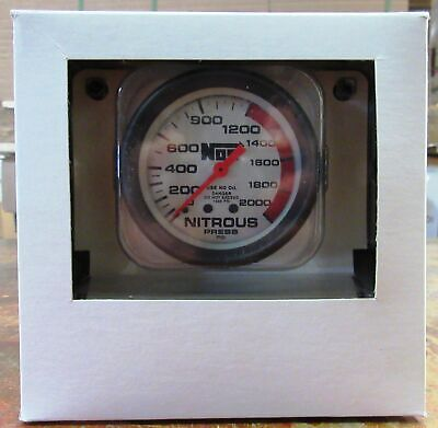 "NOS Nitrous Oxide Systems 15911SNOS 2 5/8"" Nitrous Pressure Gauge Silver Face"