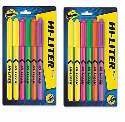 Hi-liter Fluorescent Pen Style Highlighter Chisel Tip - 6set New - 2 Pack