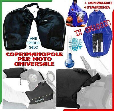 COPRIMANOPOLE UNIVERSALI BIEFFE ANTI FREDDO + PONCHO PIOGGIA MOTO SCOOTER GUANTI