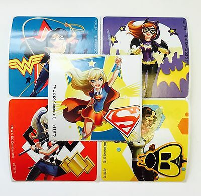 Party Favors For Women (25 DC Comics Super hero Girls Stickers Party Favors Teacher Supply Wonder)