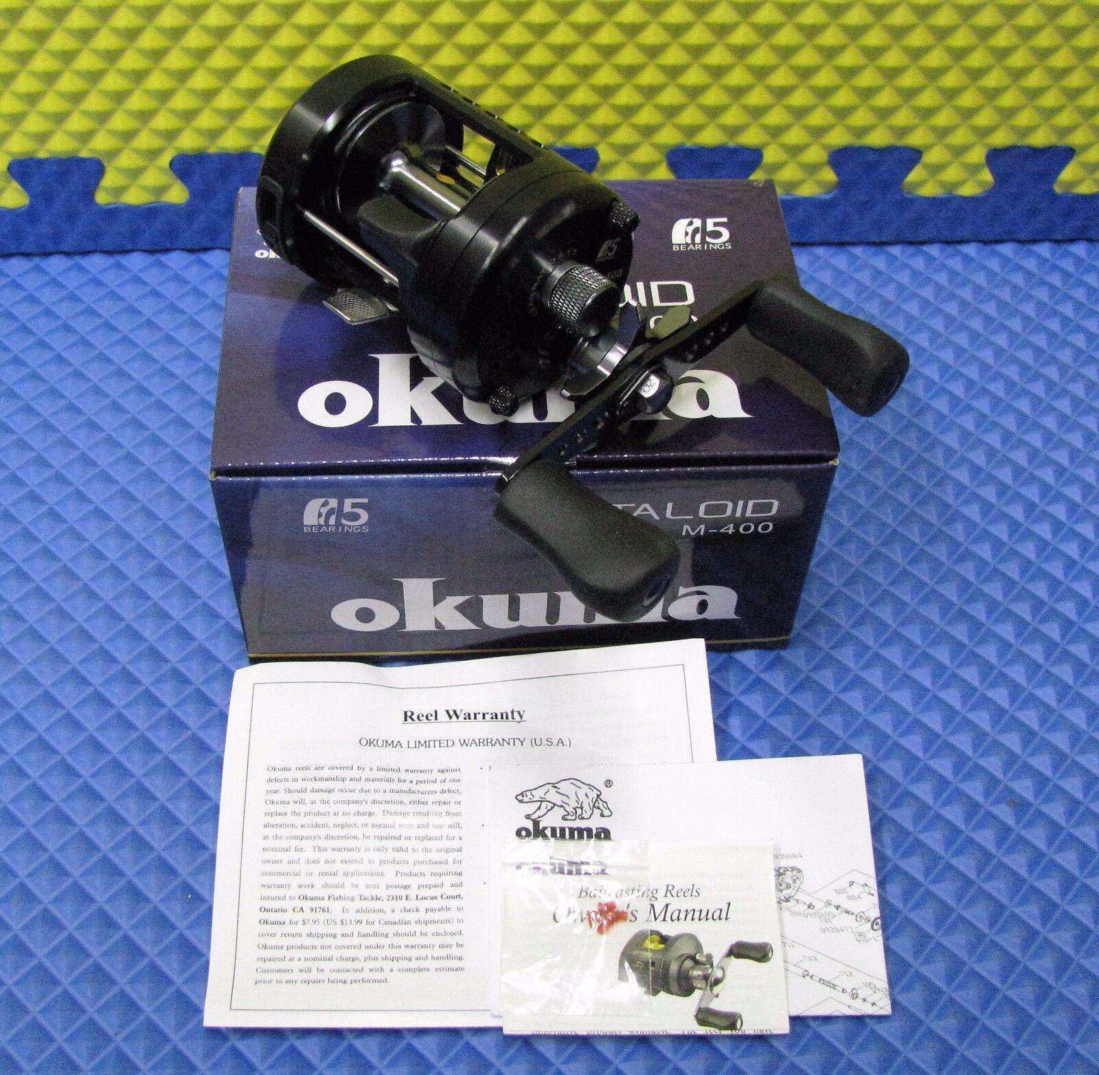 Okuma M400 Metaloid Round Baitcasiting Reel