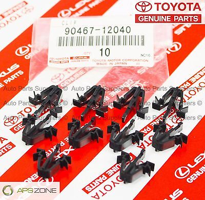 GENUINE TOYOTA TACOMA RAV4 4RUNNER PICKUP GRILLE CLIPS SET OF 10 OEM 90467-12040
