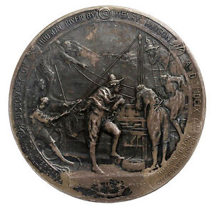 1909-Hudson-Fulton-Celebration-Sterling-Silver-ANS-Medal-By-Whitehead-Hoag-63mm