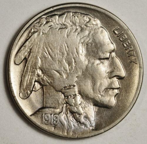 1919-p Buffalo Nickel.  High Grade.  149634