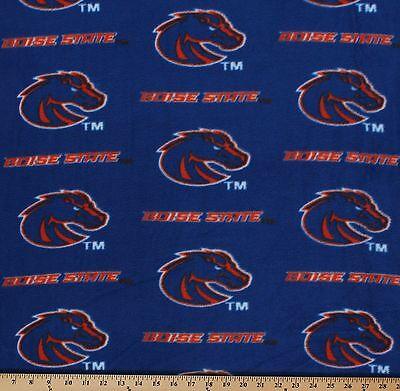 College Boise State University Broncos Team Fleece Fabric Print - Blue -