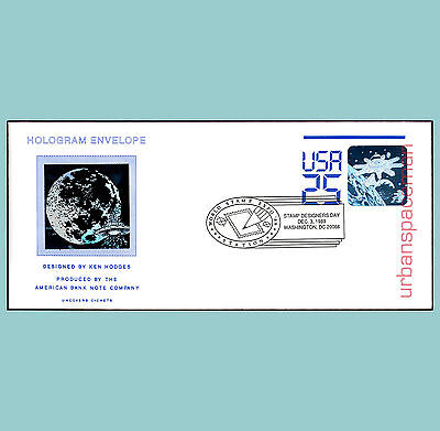 First Day Cover Sc U617 Shuttle & Space Station Stamp Designer Day Cxl Holograms