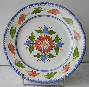 assiette moderne en faience motif fleuri keraluc quimper 26 cm ebay. Black Bedroom Furniture Sets. Home Design Ideas