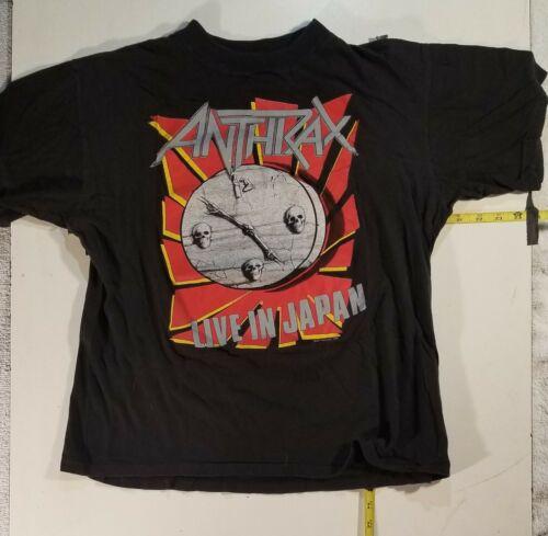 Anthrax  Vtg Japan tour shirt  NOT  a  reprint. SLAYER  Iron Maiden TestAmenT