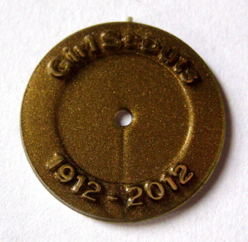 Girl Scout 2012 100th ANNIVERSARY DISC Disk Attendance Membership Pin Button