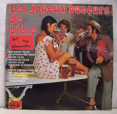 33 RPM the Merry Drinkers Beer Disc LP 12