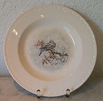 Old Soup Bowl Pigeon Villeroy & Boch Luxembourg Decor Fontainebleau De Poret