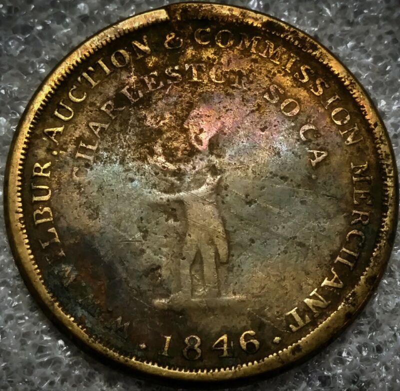 (1846) SLAVE AUCTIONEER W. W. WILBUR - Sc-10 (R-7) CHARLESTON, SC