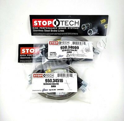 STOPTECH STAINLESS STEEL BRAIDED FRONTREAR BRAKE LINES FOR 00 06 BMW X5 ALL