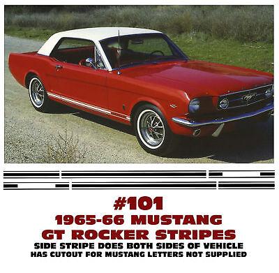 GE-101 1965-66 FORD MUSTANG GT - LOWER SIDE ROCKER STRIPE (Mustang Gt Stripe Kit)