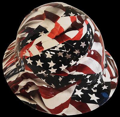 Hard Hat Full Brim American Flags w/ Free BRB Customs T-Shirt