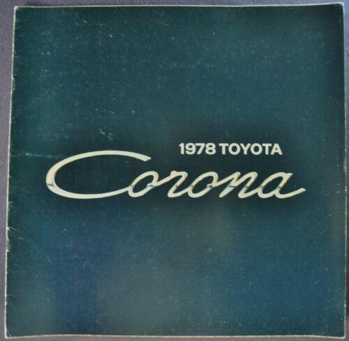 1978 Toyota Corona Catalog Sales Brochure Sedan Wagon Nice Original 78