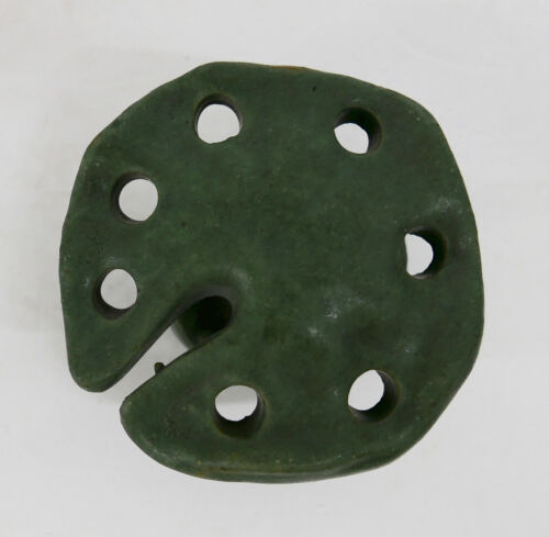 Fulper Vintage Flower Frog Matte Green Arts & Crafts