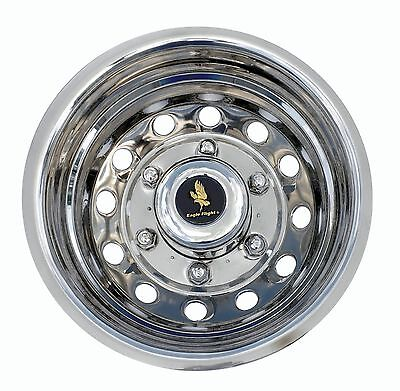 """15-16-17 FORD TRANSIT VAN DUAL REAR WHEELS WHEEL SIMULATORS HUBCAPS 16"""" BOLT ON for sale  Shipping to Canada"""