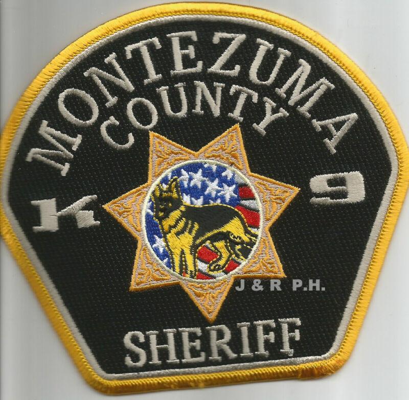 "Montezuma Co. Sheriff  K-9, CO (5.25"" x 4.5"" size)  shoulder police patch (fire)"