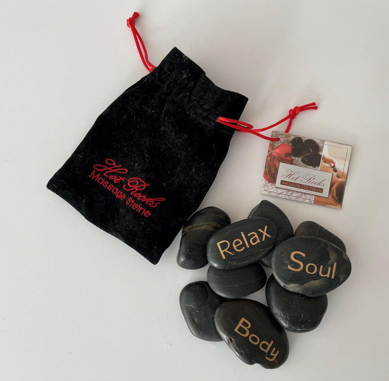 Hot Rocks Massage Steine Lavasteine im Säckchen Wellness NANU-NANA mit Anleitung