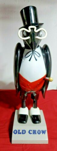 VINTAGE RARE OLD CROW WHISKEY ADVERTISING FIGURE STATUE 1950