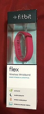Sealed Fitbit FLEX Wireless Tracker Activity Sleep Wristband -Small+Large - Pink