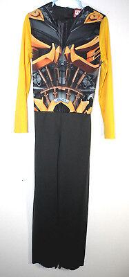 Transformers Boys S(6) One Piece Jumpsuit Gold Black Bumblebee Halloween - Bumblebee Halloween Costume Transformers