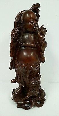 Old Chinese Wooden Hand Carved Buddha Statue Very Intricate Stunning