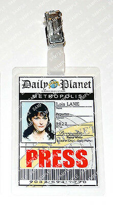 Superman Lois Lane Pass Daily Planet Cosplay Costume Comic Con Halloween