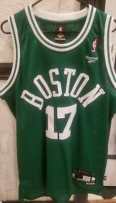VTG NBA Reebok HWC Boston Celtics John Havlicek Jersey Sewn Mens Large 17 Cousy